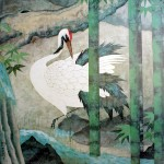 Crane with Bamboo by unknown Japanese
