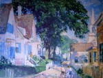 A Street in Provincetown by Gifford Beal, offset lithograph fine art reproduction