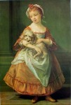Countess Stanhope Holding a Dog by Pompeo Batoni