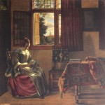 Lady at the Window by Pieter DeHooch
