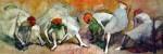 Dancers Adjusting Their Slippers by Edgar Degas