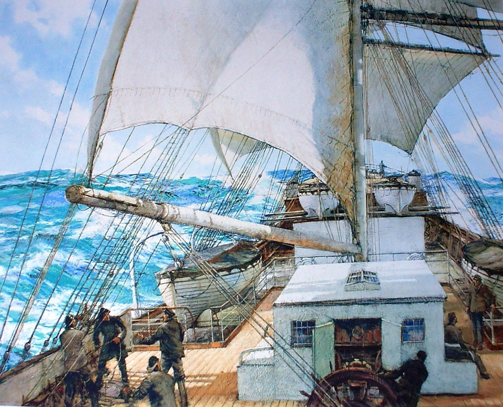 Gale Force Eight by Montague Dawson
