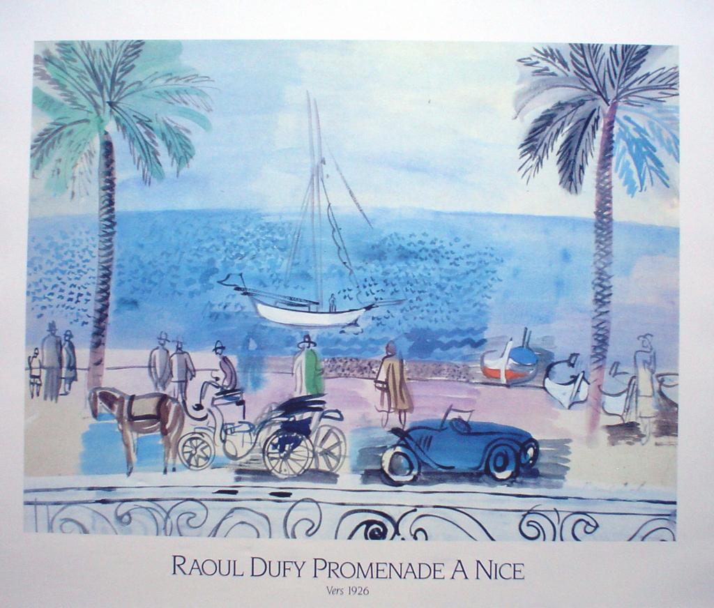 Promenade A Nice by Raoul Dufy