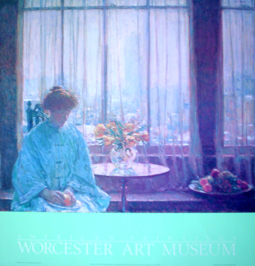 The Breakfast Room Winter Morning New York 1911 by Childe Hassam - offset lithograph fine art poster print