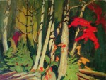 Black Birch And Maple, Algoma by Lawren Stewart Harris, Group of Seven - offset lithograph reproduction vintage fine art print