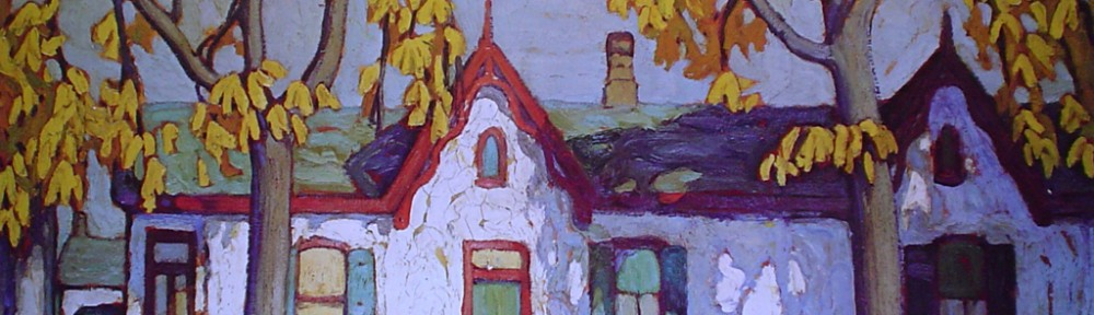 Houses, St Patrick Street by Lawren Harris - Group of Seven offset lithograph fine art print