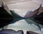 Maligne Lake, Jasper Park by Lawren Harris - Group of Seven offset lithograph fine art print