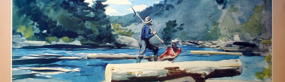 Hudson River Logging by Winslow Homer