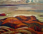 North Shore Lake Superior by AY Jackson - Group of Seven offset lithograph fine art print