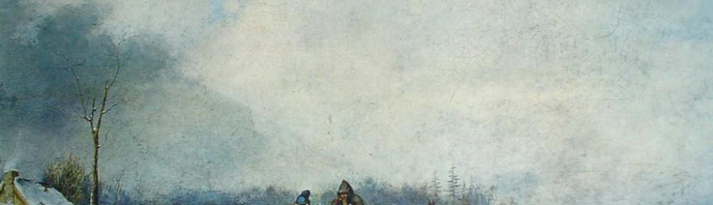 Winter Landscape by Cornelius Krieghoff