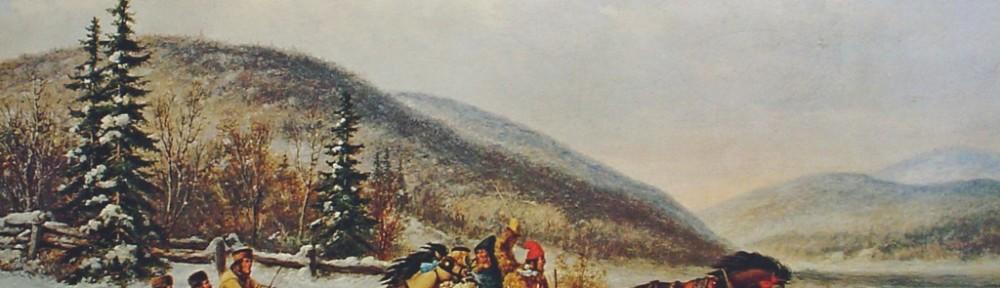 Sleigh Race Across The Ice by Cornelius Krieghoff