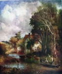 The Valley Farm by John Constable - offset lithograph fine art print