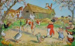 Farmyard Circus by Molly Brett - offset lithograph fine art print