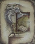 Jungfrau / Virgo by Ruediger Brassel - original etching, signed and numbered 45/ 125
