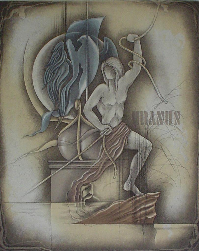 Wassermann / Aquarius by Ruediger Brassel - original etching, signed and numbered 57/ 125