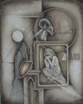 Widder / Aries by Ruediger Brassel - original etching, signed and numbered 50/ 125