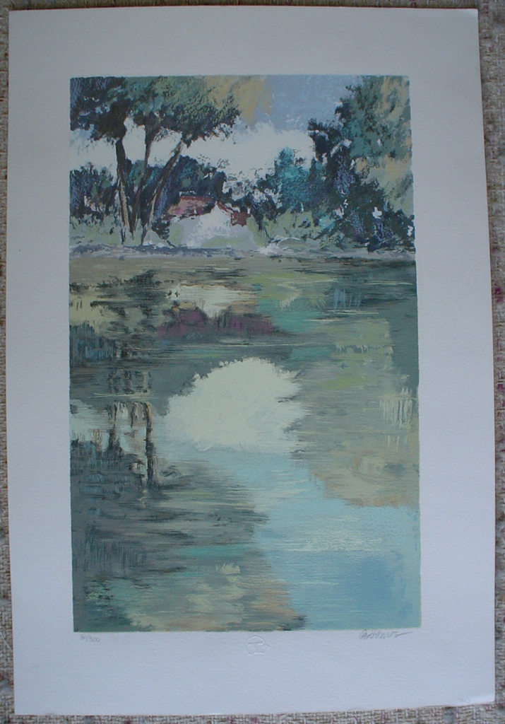Serenity 4 by Courthaus, shown with full margins - original silkscreen, signed and numbered 30/ 300