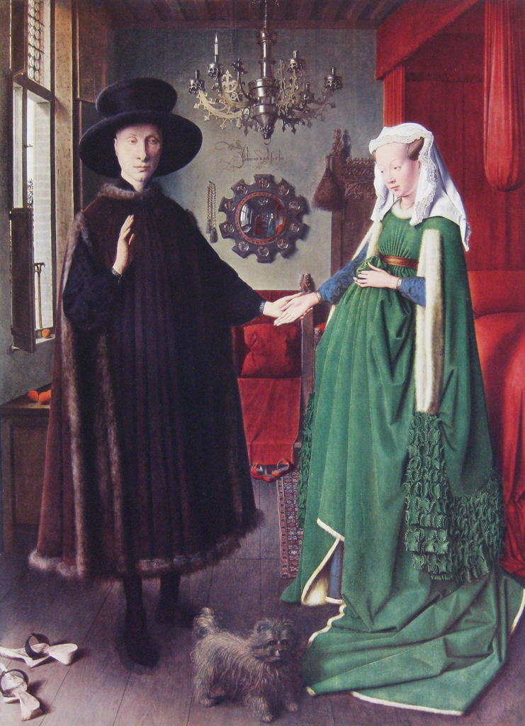 The Marriage of Giovanni And Giovanna Cenami by Jan Van Eyck - collectible collotype fine art print