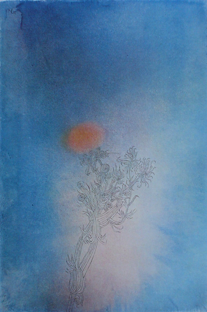 The Plant And Its Enemy / Die Pflanze Und Ihr Feind by Paul Klee - collectible collotype fine art reproduction