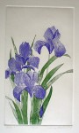 Iris 2 by Nancy Leslie - original etching, signed and numbered edition of 150