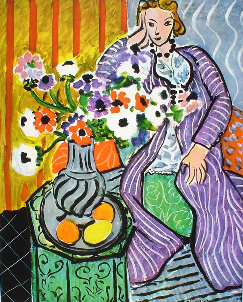 The Purple Robe by Henri Matisse - offset lithograph fine art print