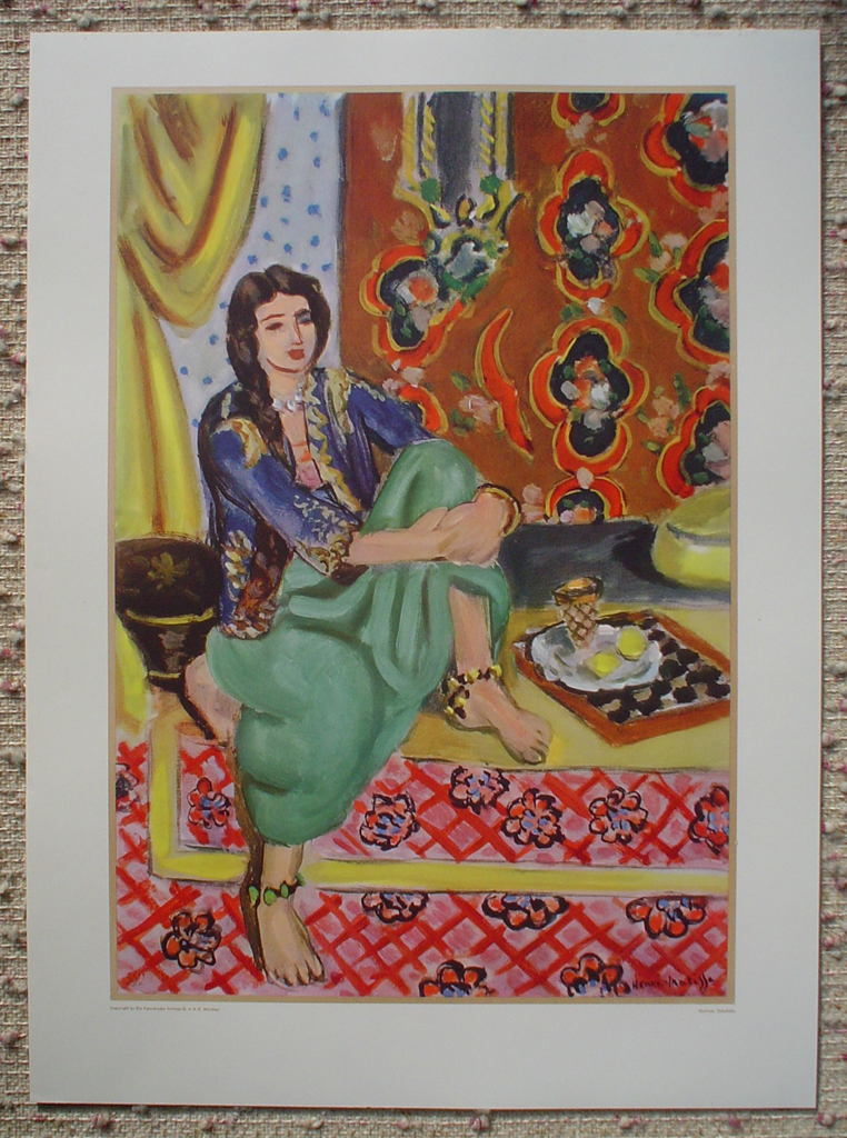 Odaliske by Henri Matisse, shown with full margins - collectible collotype fine art print