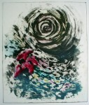 Flower Swirl by JP Moro - original etching, signed and numbered 5/ 115