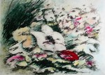 White Flower by JP Moro - original etching, signed and numbered 18/ 150