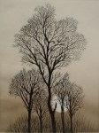Full Moon Trees by Udo Nolte - original etching, signed and numbered 29/ 200