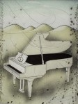 Grand Piano by Udo Nolte - original etching, signed and numbered 30/ 200