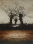 Three Trees by Udo Nolte - original etching, signed and numbered 74/ 150