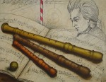 Wolfgang Amadeus Mozart by Udo Nolte - original etching, signed and numbered 158/ 200