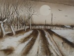 Full Moon Road by Udo Nolte - original etching, signed and numbered 60/ 150