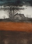 Farmhouse Under Trees by Udo Nolte - original etching, signed and numbered e.a. (artist proof)