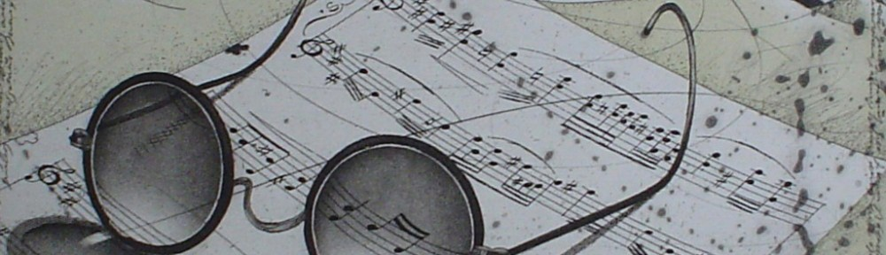 Eyeglasses And Music by Udo Nolte - original etching, signed and numbered 22/ 150