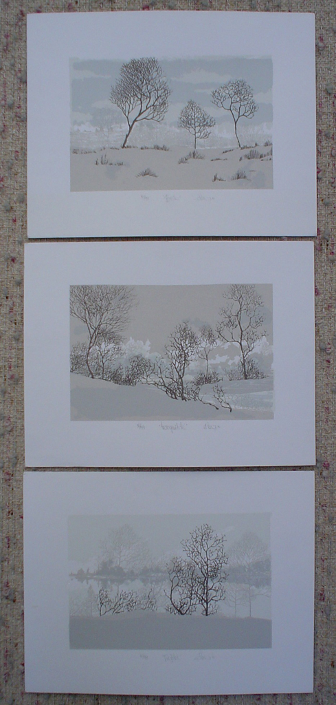 Landscape, Tranquilite and Reflet by Patry - group of 3 original silkscreens, signed and numbered