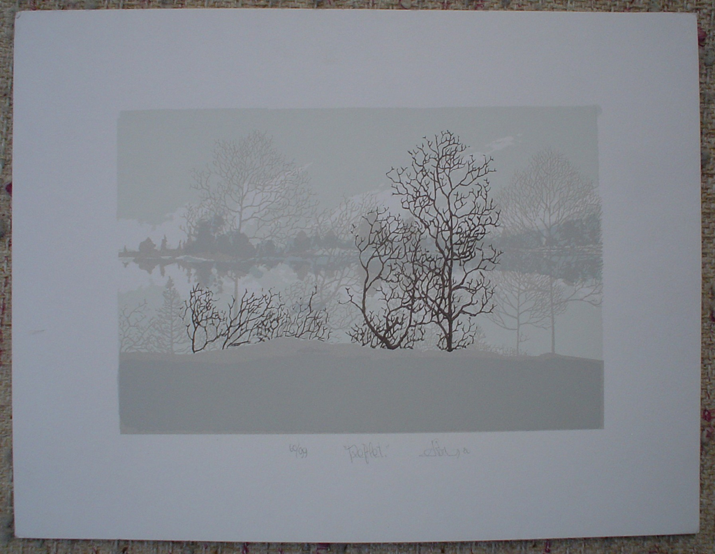 Reflet by Patry, shown with full margins - original silkscreen, signed and numbered 60/ 99
