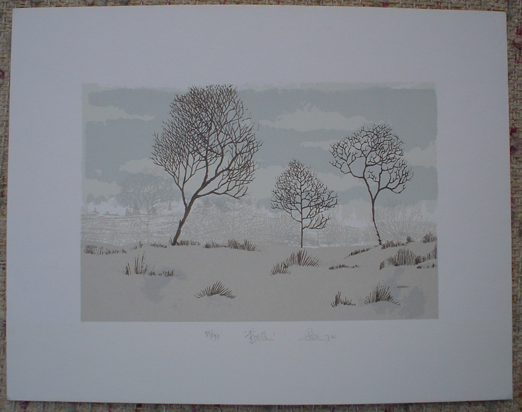 Landscape by Patry, shown with full margins - original silkscreen, signed and numbered 55/ 99