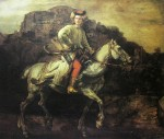 The Polish Rider by Rembrandt Harmenszoon Van Rijn - offset lithograph fine art print