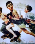 No Swimming by Norman Rockwell - offset lithograph fine art print