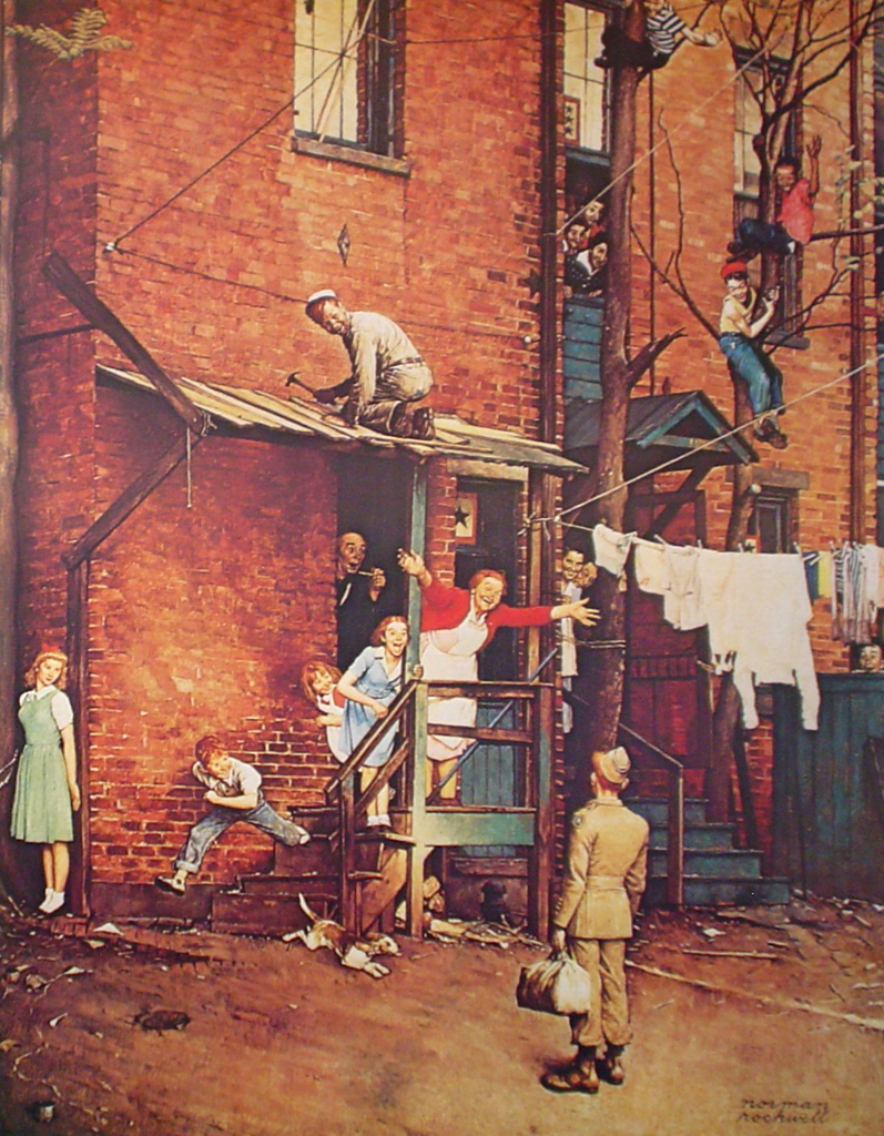 The Homecoming by Norman Rockwell - offset lithograph fine art print