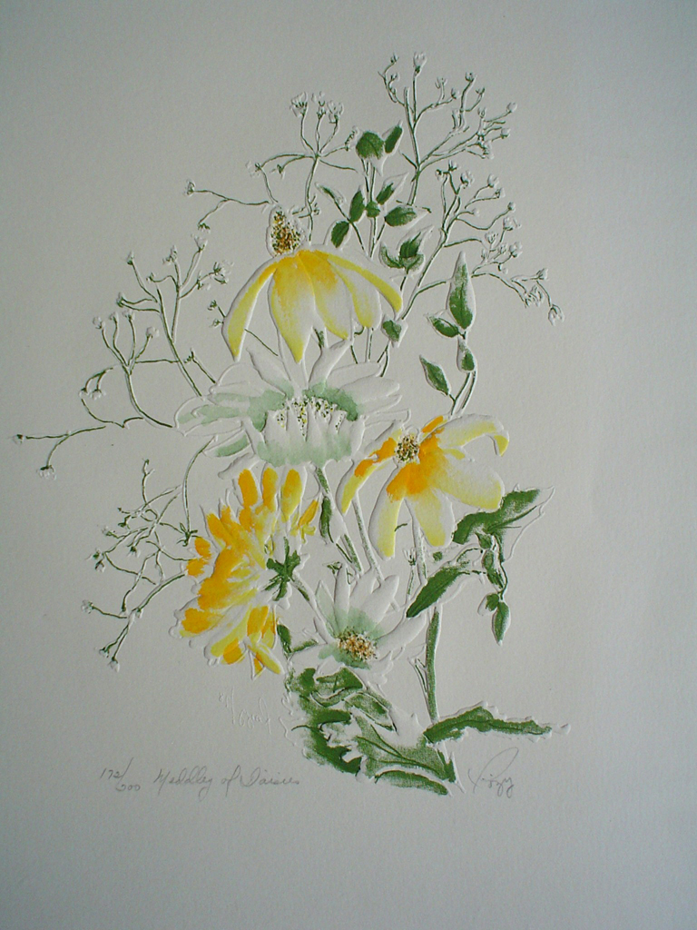 Daisy Medley by Rozy - embossed original print, signed and numbered 172/ 200