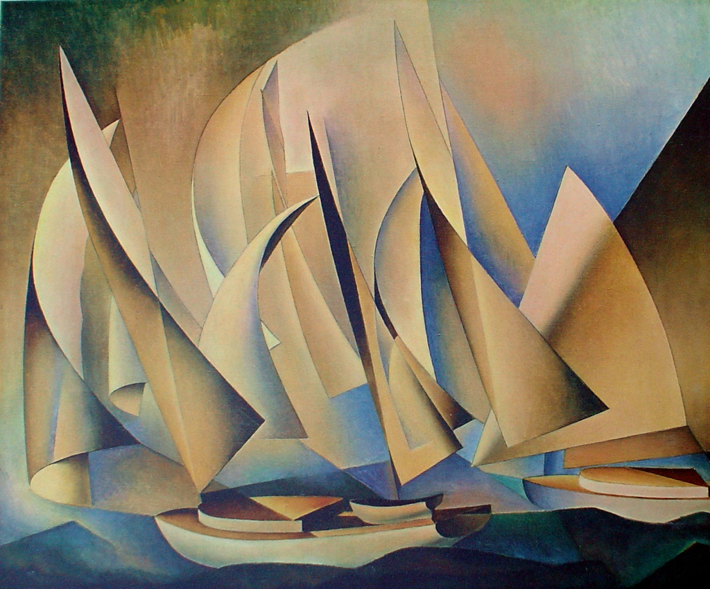 Pertaining To Yachts And Yachting by Charles Sheeler - collectible collotype fine art reproduction
