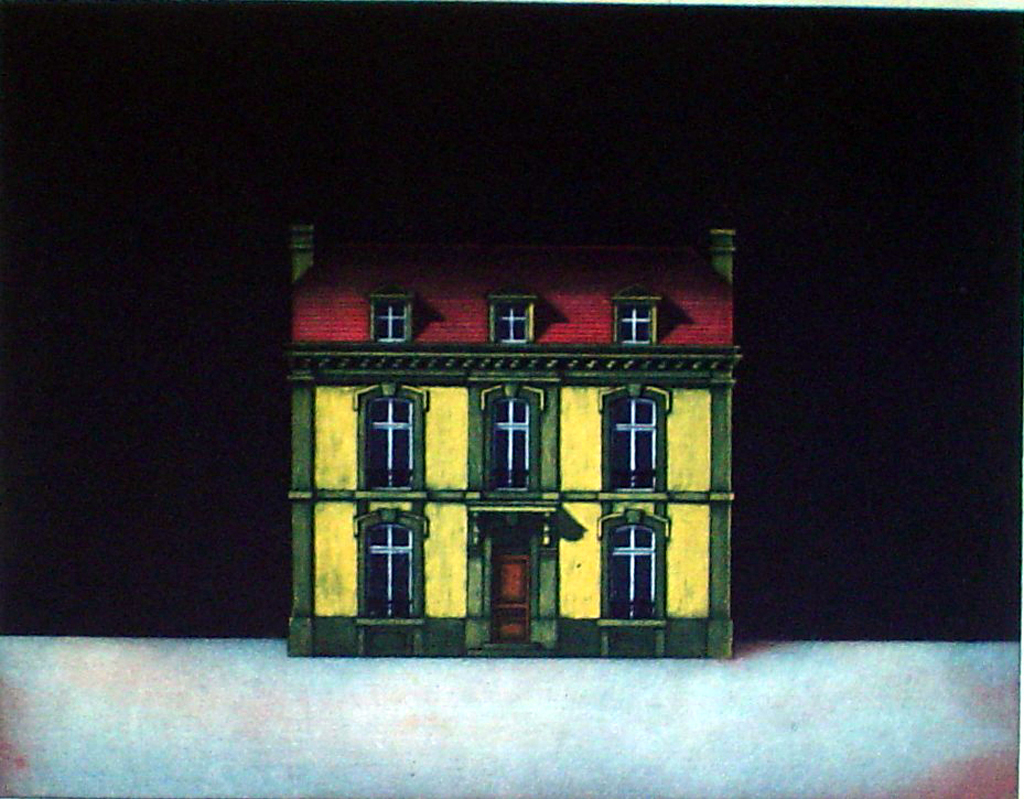 Dollhouse by Kurt Schoenen, original etching, signed and numbered 8/ 150