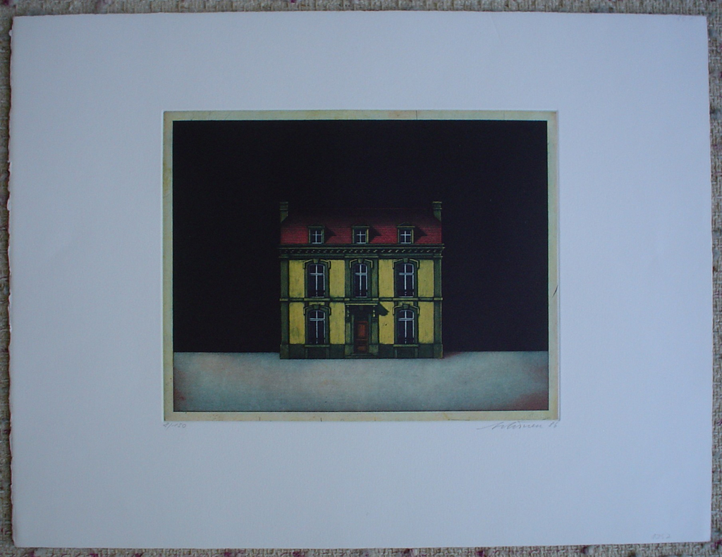 Dollhouse by Kurt Schoenen, shown with full margins - original etchings, signed and numbered 8/ 150