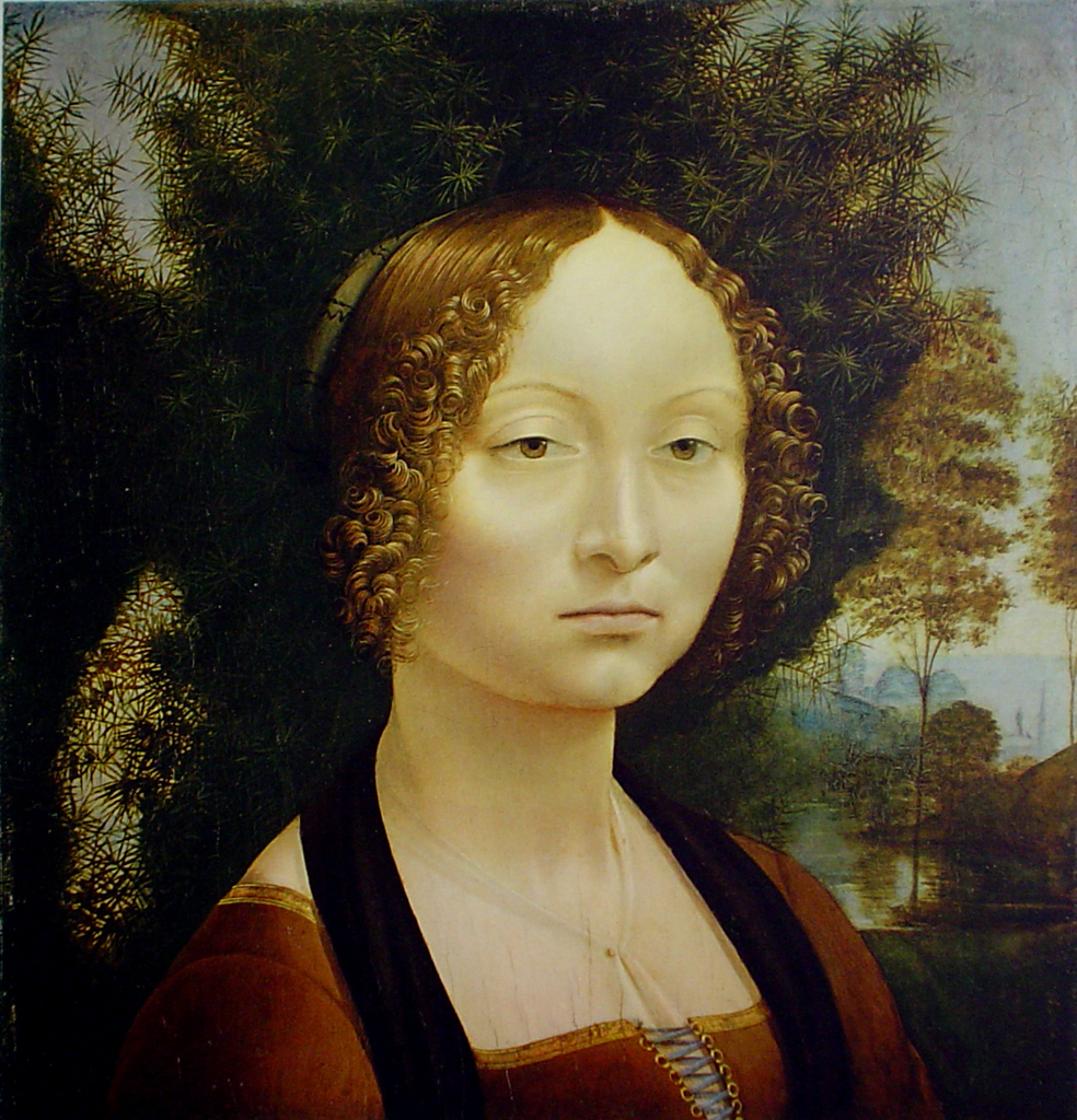 portrait of ginevra benci  1476 by leonardo da vinci  1452