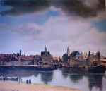 View Of Delft by Johannes (Jan) Vermeer - offset lithograph fine art print