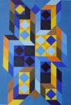 Tridimor 1969 by Victor Vasarely - collectable collotype print