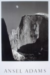 Moon And Half Dome by Ansel Adams - offset lithograph fine art photographic poster print