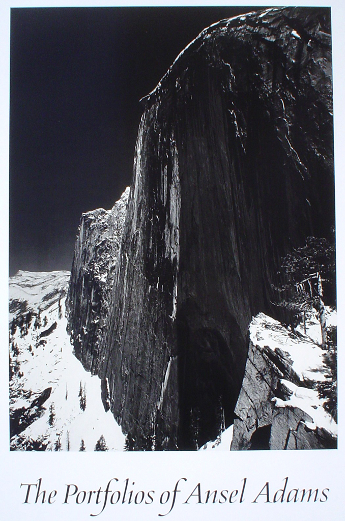 Monolith Face Of Half Dome by Ansel Adams - offset lithograph fine art photographic poster print
